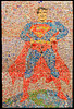 Man of Steel, 2006 12' h x 8' w pop cans on panel What title could be better for this depiction of the Superman made entirely from waste aluminum drink cans.